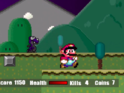 Jogo de Plataforma Super Mario Flash - Halloween Version